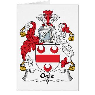 Ogle Family Crest Card