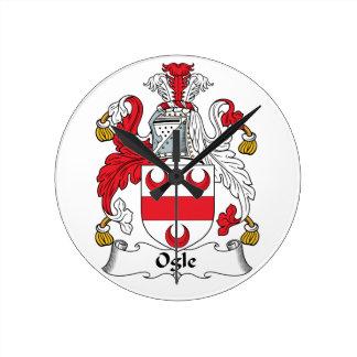 Ogle Family Crest Round Wallclocks