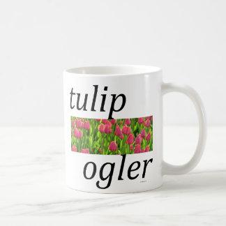 Ogler del tulipán taza básica blanca