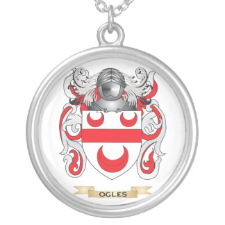 Ogles Coat of Arms (Family Crest) Round Pendant Necklace