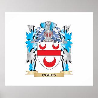 Ogles Coat of Arms - Family Crest Poster