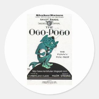 Ogo-Pogo, el Fox-Trote divertido, ShukerNature Pegatina Redonda
