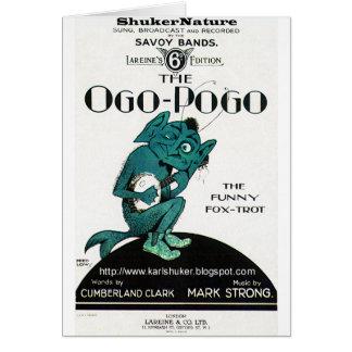 Ogo-Pogo, el Fox-Trote divertido, ShukerNature Tarjeta De Felicitación