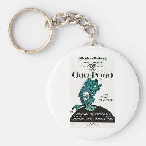 Ogo-Pogo, The Funny Fox-Trot, ShukerNature Basic Round Button Keychain