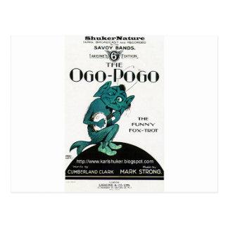 Ogo-Pogo, The Funny Fox-Trot, ShukerNature Postcard