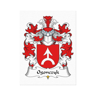 Ogonczyk Family Crest Stretched Canvas Print