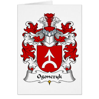 Ogonczyk Family Crest Card