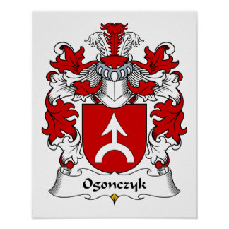 Ogonczyk Family Crest Posters