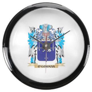 O'Gorman Coat of Arms - Family Crest Aquarium Clocks