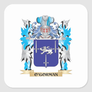 O'Gorman Coat of Arms - Family Crest Square Stickers