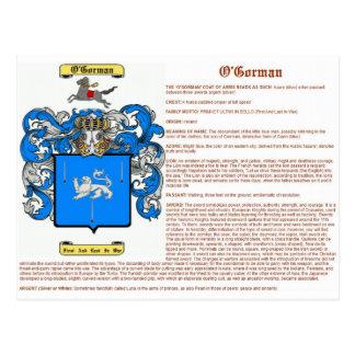 o'gorman (meaning) postcard