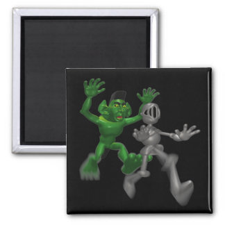 Ogre And Knight Magnets