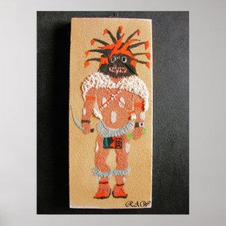 """Ogre"" Kachina Sand painting Print"