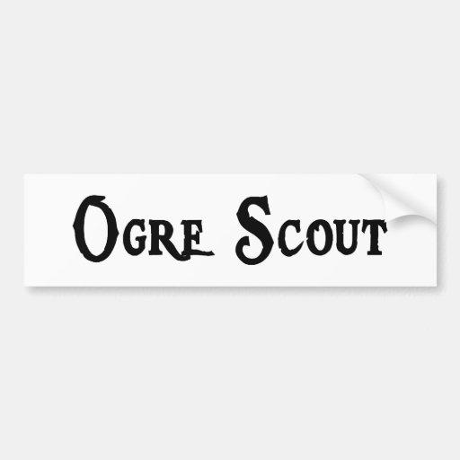 Ogre Scout Sticker Bumper Stickers