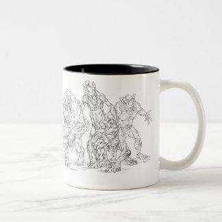 Ogres Two-Tone Coffee Mug