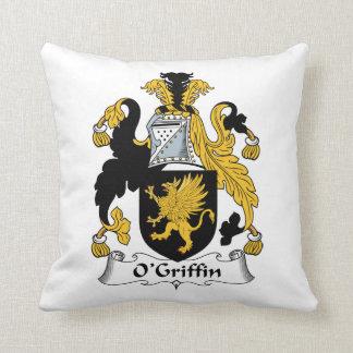 O'Griffin Family Crest Throw Pillow