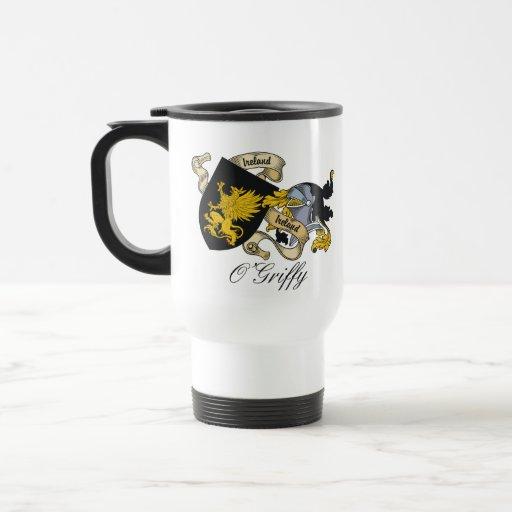 O'Griffy Family Crest 15 Oz Stainless Steel Travel Mug