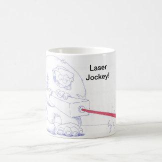 Ogro del laser con el dibujo animado de las gafas tazas