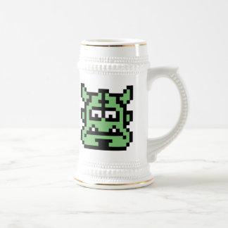 Ogro del pixel tazas de café