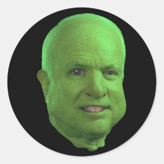 Ogro McCain Etiquetas Redondas