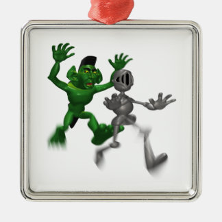 Ogro y caballero ornamento para reyes magos