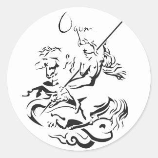 Ogum adhesive classic round sticker