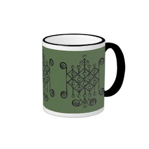 Ogun, Patron Loa of Fire, War, & the Unemployed Ringer Coffee Mug
