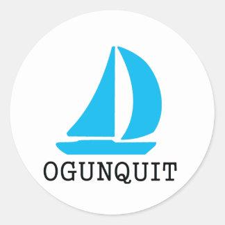 Ogunquit Classic Round Sticker