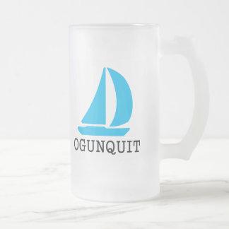 Ogunquit Frosted Glass Beer Mug
