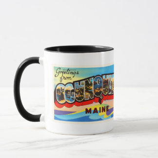 Ogunquit Maine ME Old Vintage Travel Souvenir Mug