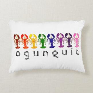 Ogunquit Maine Rainbow Lobsters Decorative Pillow