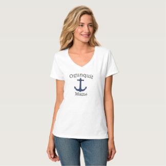 Ogunquit Maine Women's Tall Ship Sea Anchor Shirt