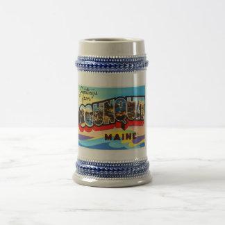 Ogunquit Maine YO recuerdo viejo del viaje del Jarra De Cerveza