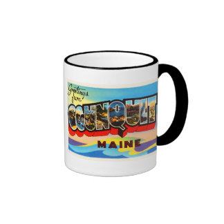 Ogunquit Maine YO recuerdo viejo del viaje del Taza De Dos Colores