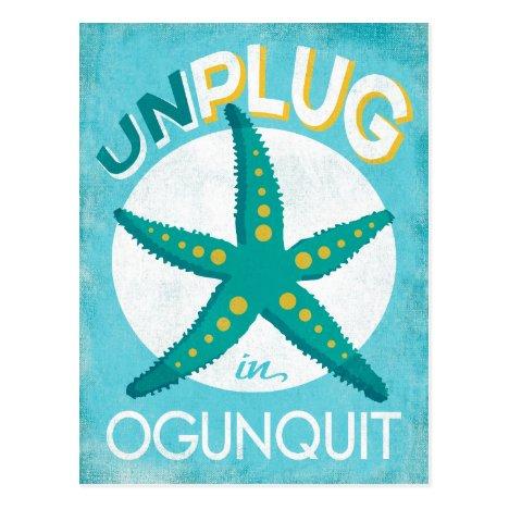 Ogunquit Starfish Beach Nautical Postcard