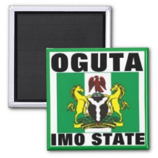 Oguta, la OMI indica, camiseta de Nigeria Iman De Nevera