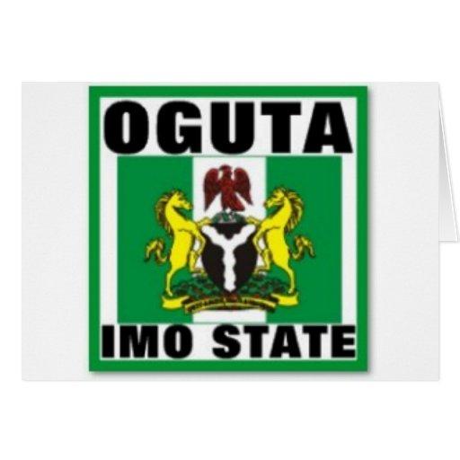Oguta, la OMI indica, camiseta de Nigeria Felicitaciones