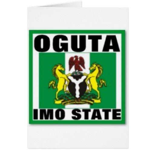 Oguta, la OMI indica, camiseta de Nigeria Felicitación