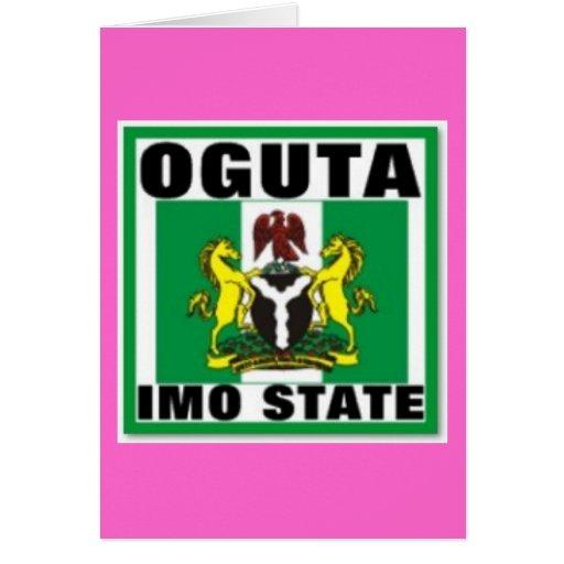 Oguta, la OMI indica, camiseta de Nigeria Tarjeton