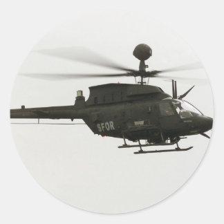 OH-58D Kiowa Warrior Classic Round Sticker