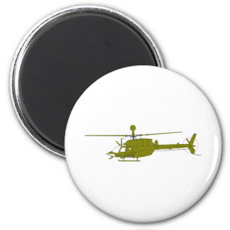OH-58D Observation Helicopter 2 Inch Round Magnet