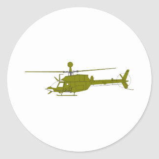 OH-58D Observation Helicopter Classic Round Sticker