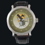 "OH-6 Loach / Cayuse 1st Cav Watch<br><div class=""desc"">These good looking watches and clocks feature the patch of the 1st Cavalry Division with an OH-6 flying in front of it. Makes a great gift for the Vietnam Veteran on your list!</div>"