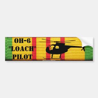 "OH-6 ""Loach"" Pilot VSM Ribbon Bumper Sticker"