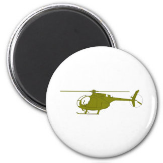 OH-6A Observation Helicopter 2 Inch Round Magnet