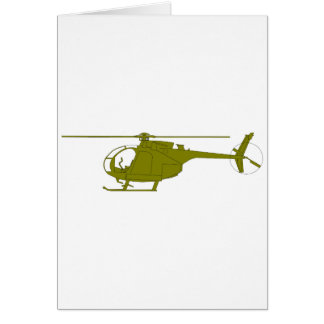 OH-6A Observation Helicopter Card
