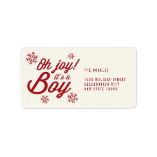 Oh alegría es etiqueta de dirección del navidad