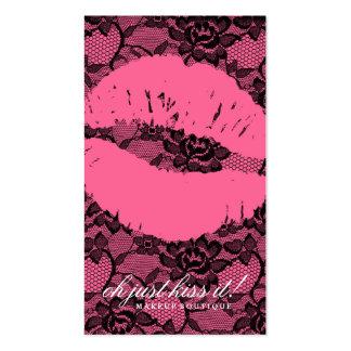 ¡Oh apenas beso 311 él Rosa del cordón en rosa Tarjetas Personales