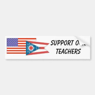 OH--Apoye a nuestros profesores Pegatina De Parachoque