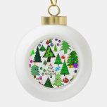 ¡Oh árbol de navidad! Adorno De Cerámica En Forma De Bola